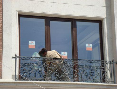 پنجره دوجداره چوبی